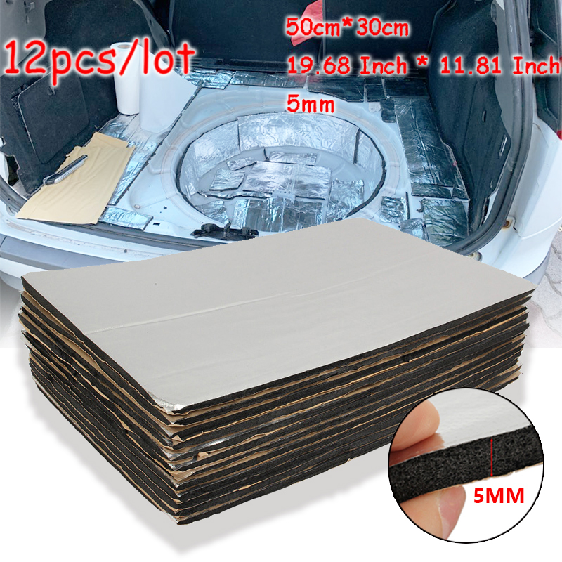 6 Sheets 5mm Car Sound Proofing Deadening Vehicle Insulation Closed Cell Foam