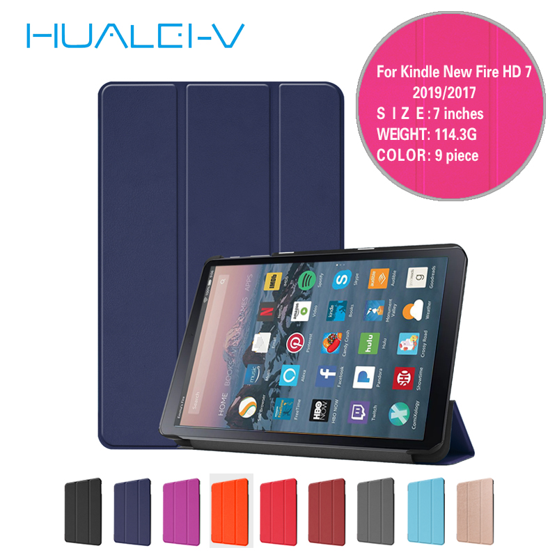 Case for Amazon <font><b>kindle</b></font> New Fire 7 2017 <font><b>2019</b></font> with Alexa display tablet Leather For Amazon <font><b>Kindle</b></font> Fire HD7 2017 <font><b>2019</b></font> tablet <font><b>Cover</b></font> image