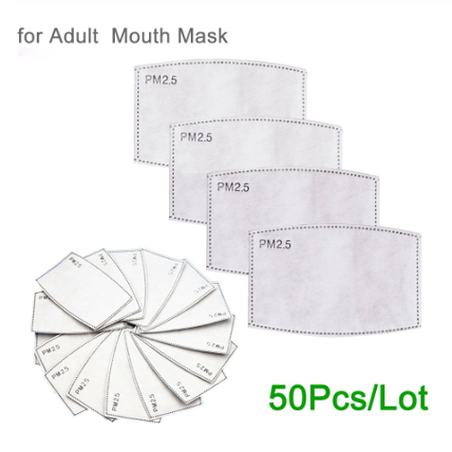 5 Layers PM2.5 Filter Paper Anti Haze Mouth Mask Anti Dust Mask Activated Carbon Filter Paper Health Care Adult Children Mask