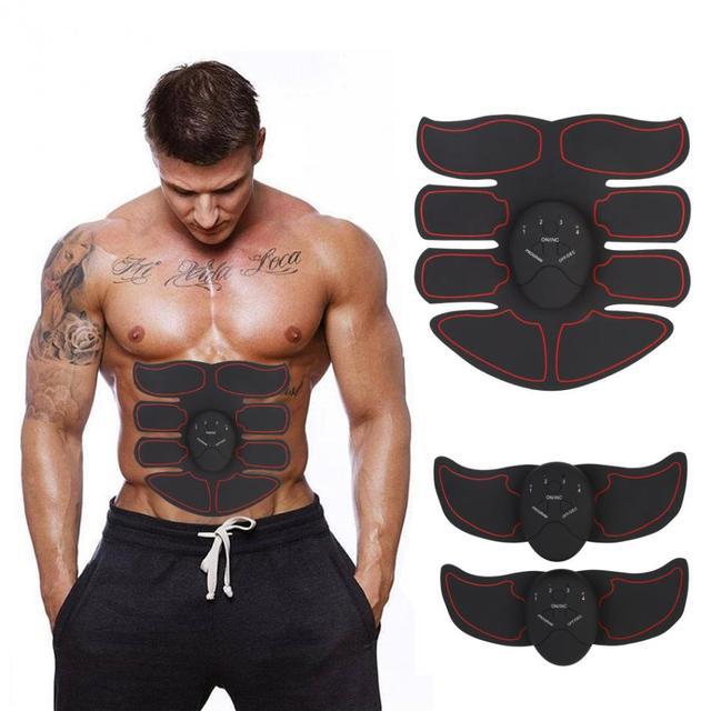 Vet Brander Spierstimulator Apparaat Ems Intelligente Buik Abs Training Massager Body Building Patch Buikspieroefening Machine