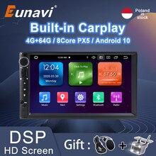 Eunavi Radio Multimedia Universal con GPS para coche, Radio con reproductor, navegador, 2 Din, Android, Universal, estéreo, pantalla HD, SIN DVD