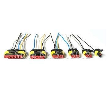 Connecteur de fils électriques superbes Tyco, Kit 1.5 broches, 1/2/3/4/5/6 broches, étanche, mâle et femelle, avec faisceau de câbles