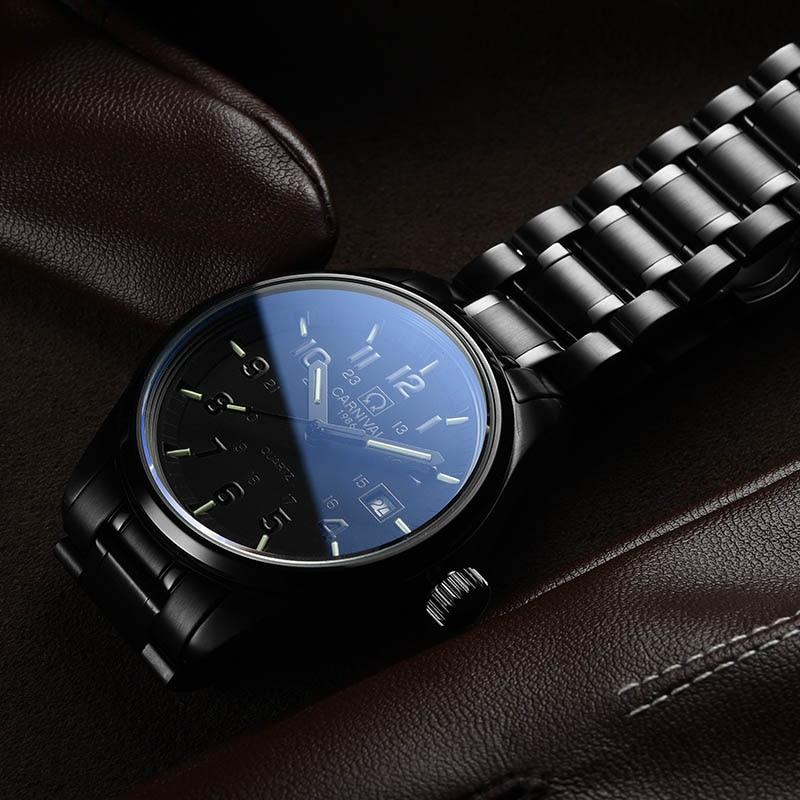 Carnaval t25 tritium luminoso relógio masculino militar dos homens relógios de luxo da marca superior quartzo relógio masculino reloj hombre 2019 - 6