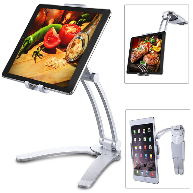 Rotating Portable Monitor Wall Desk Metal Stand Fit For Below 15.6inch monitor Tablet Mobile Phone Holders 2