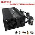 900 Вт 48 В/52 в 15A литиевое зарядное устройство 58 8 в 15A зарядное устройство 110/220 в для 14S 52 в батарейный блок DHL Бесплатная доставка