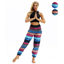 Women Yoga Pants Nepal boho Stripe Printing Hippie Harem Loose bloomers Sweat Pant Casual Jogger Running Workout Lounge Pant 2019 new women yoga pants harem loose wide leg sweatpants bloomers running jogging casual fitness pants activewear crotch pants