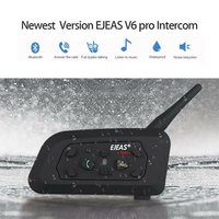 Vehemo Full Duplex V6 Pro Helmet Walkie Talkie Bluetooth Intercom Radio Motorcycle Intercom GPS Outdoor Sports Ski for EJEAS