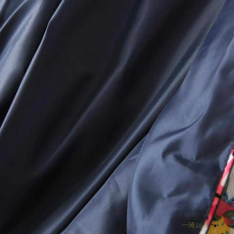 Nuovo Autunno Inverno Retro Nazionale Ricamato di Fiori Sottile di Cotone Imbottito Cappotto Lungo Manica della Giacca corta Donne LH154