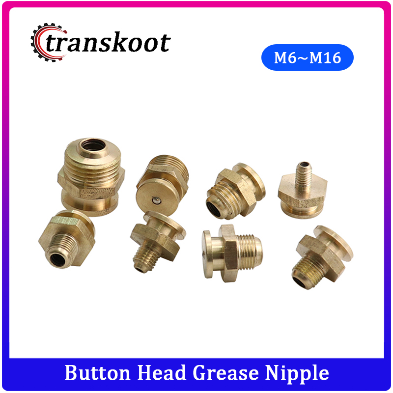 M6/M8/M10/M12/M14/M16 and 1/8 1/4 3/8 1/2 Metric and NPT Male Thread Button Head Grease Nipple image