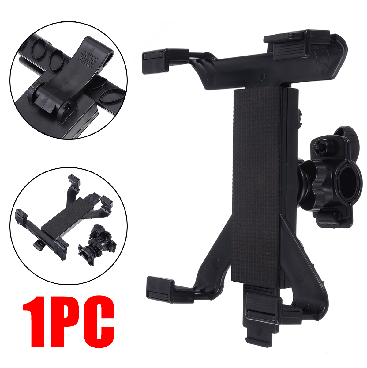 Computer Accessories 1pc Black Music Microphone Stand Holder Universal Mic Tablet Mount For iPad 4 3 2 for Samsung Tab 7-11""