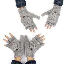Women Men Winter Warmer Soft Fingerless Gloves Mittens Knitt
