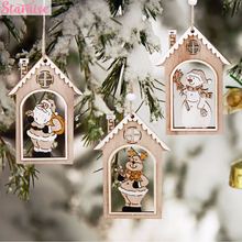 Staraise 1pc Santa Claus Pendants Christmas Decor for Tree Ornaments DIY Hanging 2018 Festival