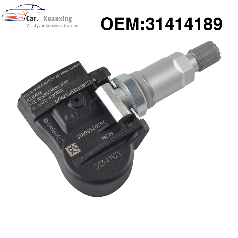 OEM 31414189 Tire Pressure Sensor Monitoring System TPMS 433MHz For Volvo C30 C70 S40 S60 S70 S80 V40 V50 V60 XC60 XC70 XC90