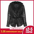 Женская зимняя куртка из искусственной кожи 2020
