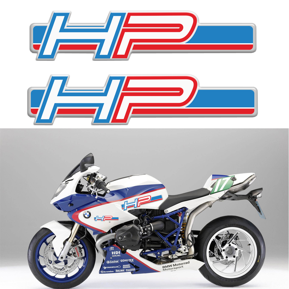 Blanc psler Sticker garniture de r/éservoir de moto 3D pour HP4