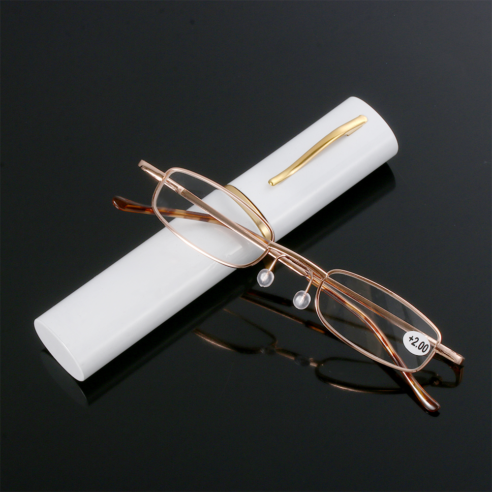New Fashion High Grade Tube Case Eyeglasses Reading Glasses Book With Learning Reading Glasses For Men And Women Dropshipping