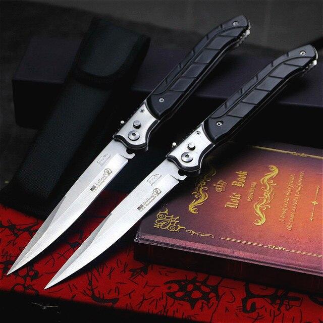 Dehong U.S Outdoor Folding Knife ABS Black Handle Quick Folding Edge Pocket Knife Home Folding Knife Hunt Knife Tool Knife 1