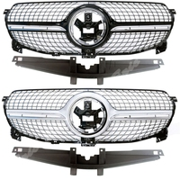 Car Front Racing Billet Bumper Mesh Grill Bar Vent Upper Cover For Mercedes Benz W167 GLE Class 2020 Diamond General