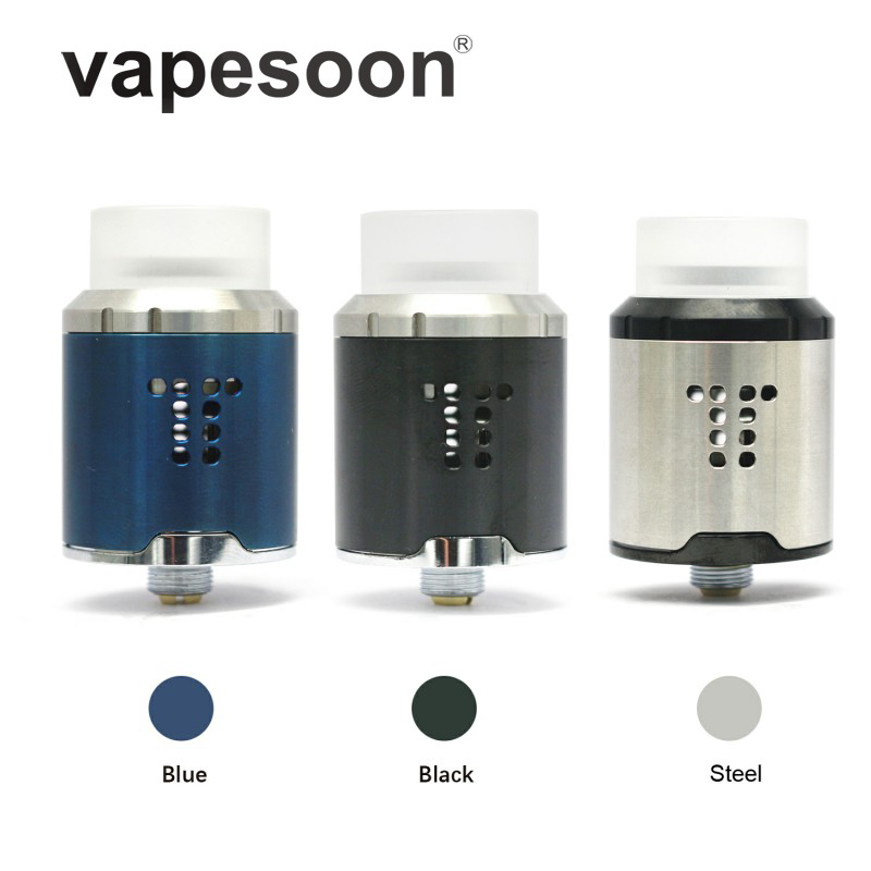 New Arrival vapesoon DROP RDA Atomizer 810 Drip Tip 24mm Tank Adjustable Airflow Heat wire For 510 Box Mod