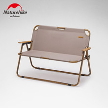 Naturehike Backrest Camping 2 Persons Chair Outdoor Portable Backrest Fishing Chairs Breathable Folding Chair Picnic Comfortable