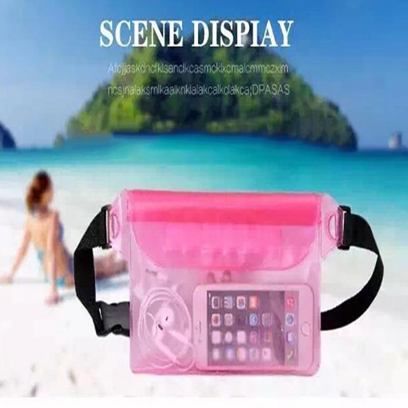 Portable Beach Bag Swimming Bag Outdoor Beach Park Swimming Kids Children Toys Towel Clothes Mesh Storage Underwater Waist