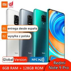 Глобальная версия Xiaomi Redmi Note 9 Pro 6 Гб RAM 64 Гб 128 ГБ ROM мобильный телефон Snapdragon 720G 64-мегапиксельная четырехъядерная камера 6,67 дюйм5020 мАч NFC