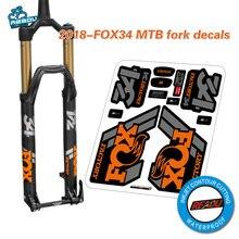 Fox float 34 pegatinas de horquilla delantera para bicicleta de montaña, pegatinas de horquilla delantera para bicicletas de montaña, 2018