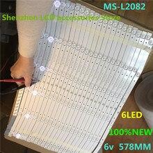 8 ชิ้น/ล็อตสำหรับLehua 32L56 32L3 LCD TV Backlightบาร์MS L2082V2 MS L1160 6V 578 มม.100% ใหม่MS L2082