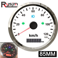 85mm GPS Speedometer + GPS Antenna for Snowmobile Car speed sensor motorcycle Boat Odomete 200km/h Waterproof gauge universal