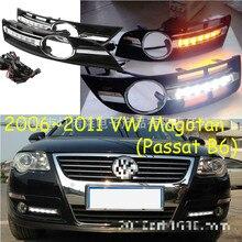 купить Super bright Waterproof car light DRL LED Daytime Running Lights with fog lamp hole For VWVolkswagen Passat B6 2006-2011 онлайн
