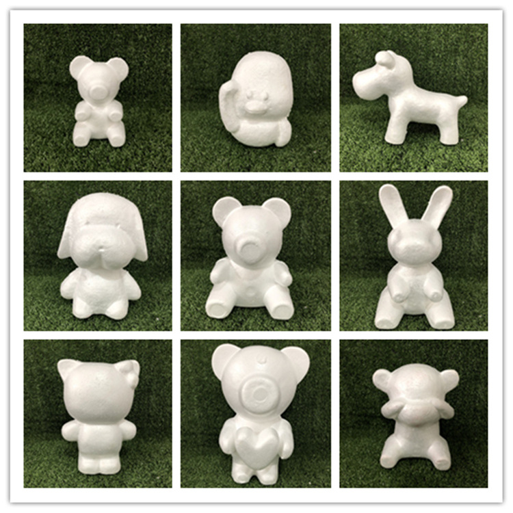 13 Style Modelling Polystyrene Styrofoam Foam Bear White Craft Balls PE Rose For DIY Christmas Party Decoration Supplies Gifts
