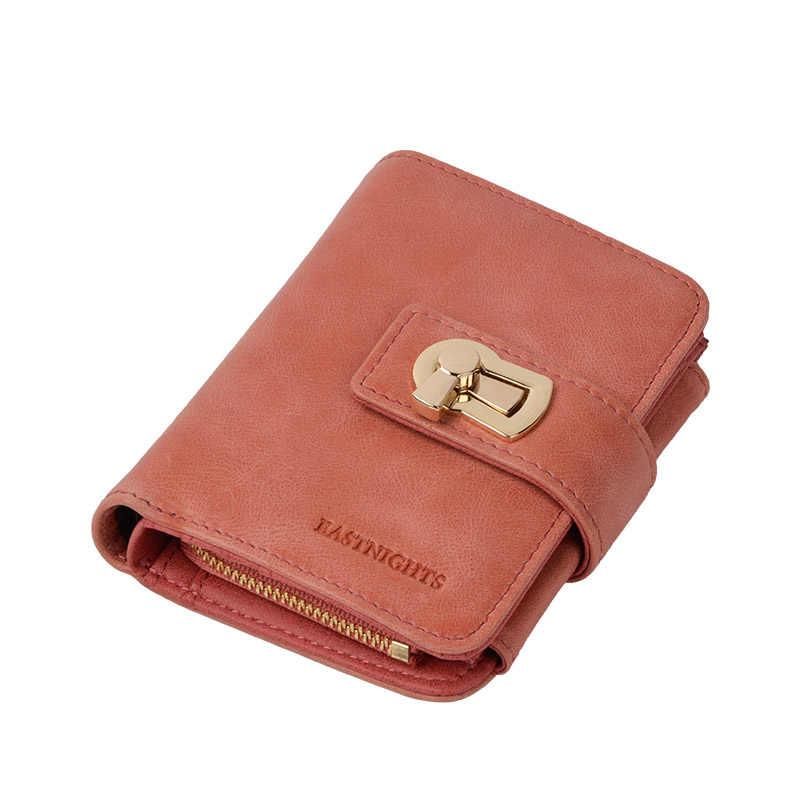Clearance Sale Dompet Wanita Kulit Asli Wanita Tas Genggam Tas Zipper Pemegang Kartu Kredit Dompet untuk Wanita dengan Koin Saku