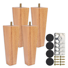 6/10/15 Cm Wooden Furniture Feet Home Sofa Cabinets Beds Legs Square Leg for Chair Table Furniture Parts with Accessories