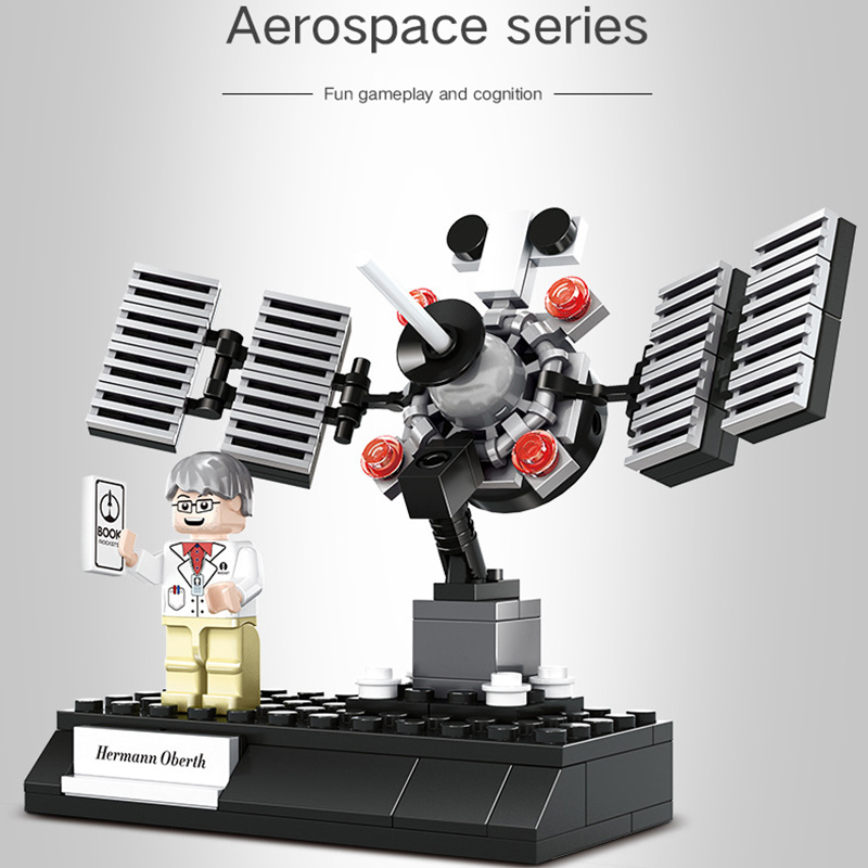 Aviation rocket satellite space shuttle lunar vehicle small particles boy assembled puzzle building blocks toys