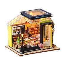 Сборный кукольный домик «сделай сам», деревянные кукольные дома, миниатюрный кукольный домик, мебель со светодиодной подсветкой, обучающие...