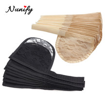 Nunify Good Quality 1-5Pcs Ponytail Hair Net For Making Ponytail With Adjustable Strap Weaving Wig Caps Poney Tail Wig Maker(China)