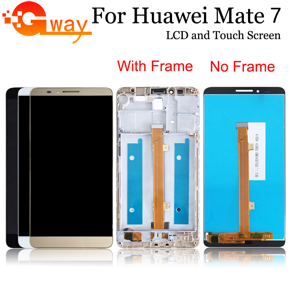 For Huawei Mate 7 LCD Display With Touch Screen Digitizer Replacement For Mate 7 MT7-TL10 LCD With Frame
