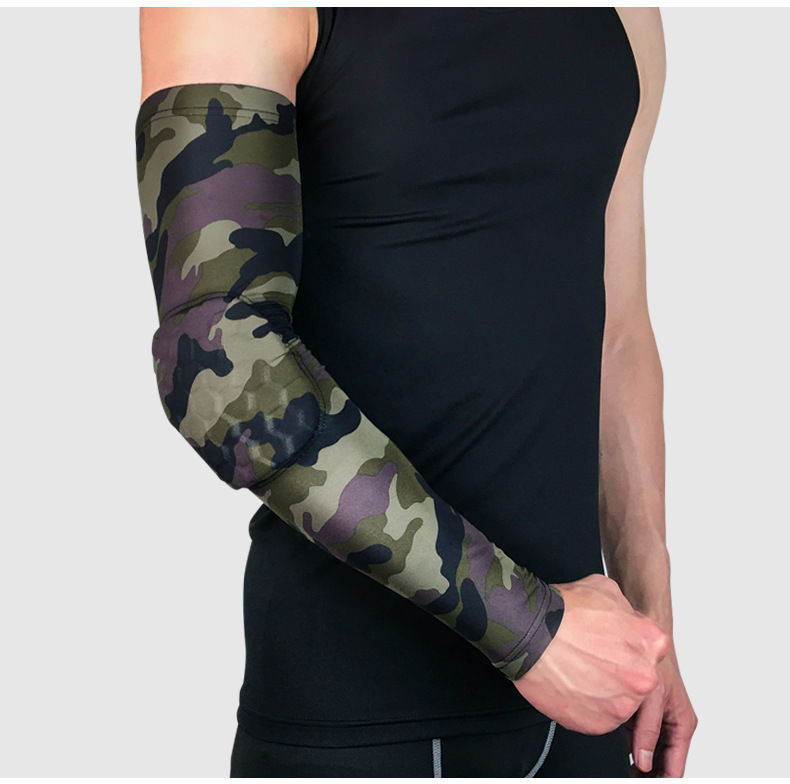 Sports Elbow Protection Camouflage Breathable Collision Proof Elbow Joint Pad Protection Basketball Football Honeyco Arm Sleeve