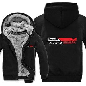 Image 5 - Benelli TRK 502X hoodies karikatür ceket kalınlaşmak hoodie fermuar kış polar Benelli TRK 502X kazak