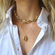 Bohème alliage coquille pendentif collier femme Style National multicouche clavicule chaîne collier ras du cou XL550