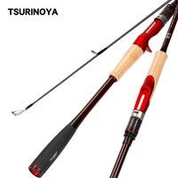 TSURINOYA High Profile Fishing Rod INSPIRATION 2.21/2.36m X wrapping Carbon Rod Fuji Guides Cork Handle ML Spinning Casting Rod