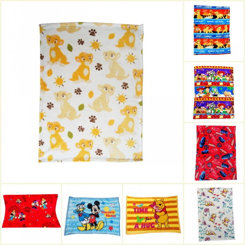 Disney Lion King Simba Soft Flannel Blankets Mickey Mouse Nap Small Blanket For Baby Boys Girls Kids Gift 75x100cm On Bed Crib