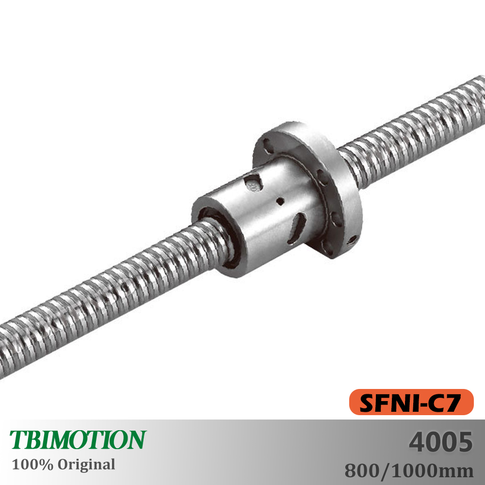 TBI Motion SFNI4005 C7 vis à billes écrou à billes 800 1000mm haute précision bride CNC pièces accessoires professionnel fin usinage
