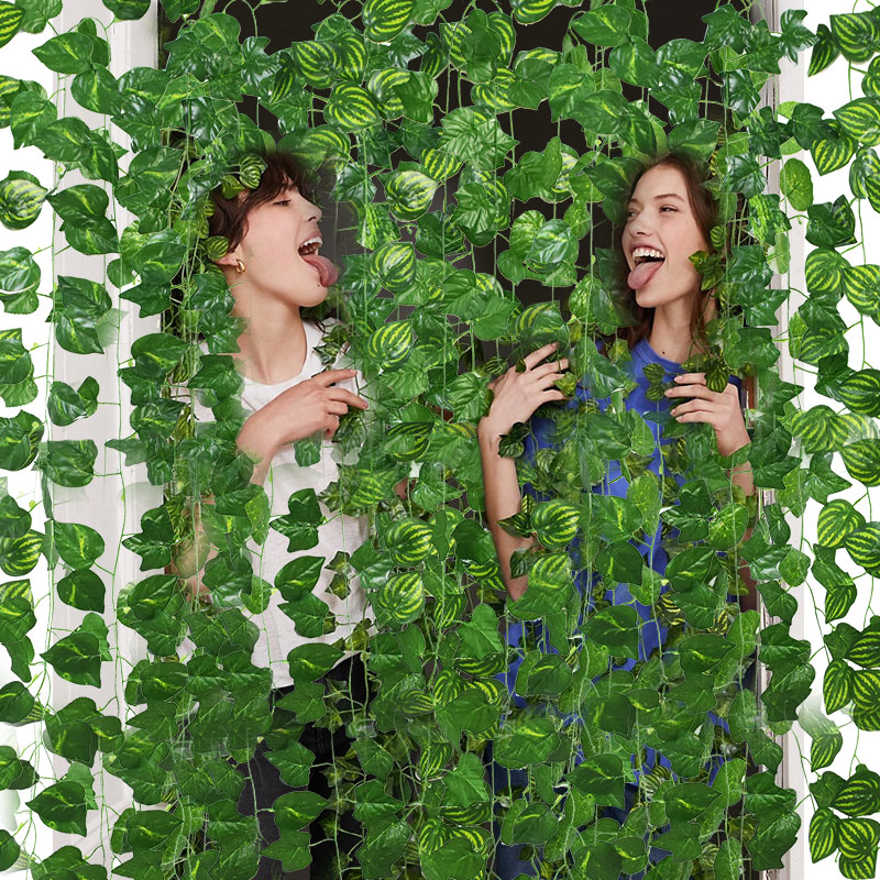 3pcs 230cm Artificial Plants Ivy Leaf Garland Vine Fake Foliage Plant for Home Decor DIY Balcony Garden Decoration Supplies(China)