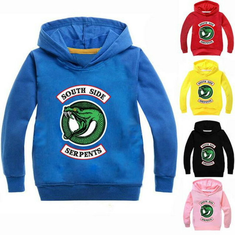 Spring Kids Hooded South Side Serpents Harajuku Riverdale Southside T Shirts Baby Boys Girl Sweatshirts Pullover Hoodies Outwear