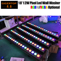 TIPTOP Stage Light 18x12W RGBW RGBA Stage Led Wall Washer Light NO Waterproof Indoor Using Amber Gold Color Daisy Chain Connect