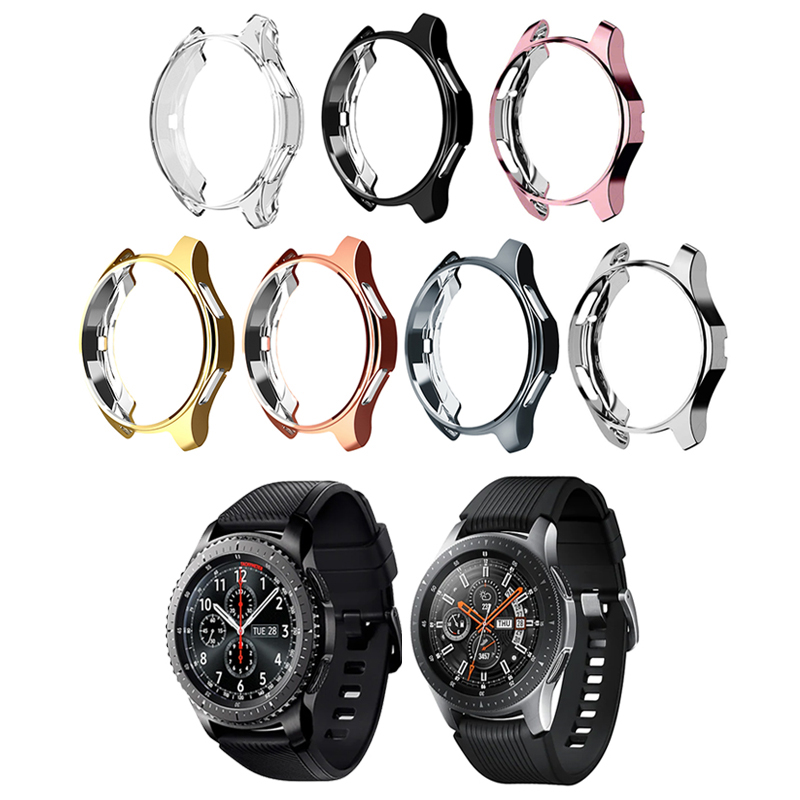 TUP soft watch Case for Samsung Galaxy Watch 46mm 42mm/Gear S3 frontier bumper watch accessories plated protective shellcase