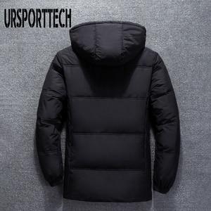 Image 3 - 2019 새로운 고품질 흰색 오리 두꺼운 자켓 남성 코트 스노우 파커 남성 따뜻한 브랜드 의류 겨울 자켓 겉옷