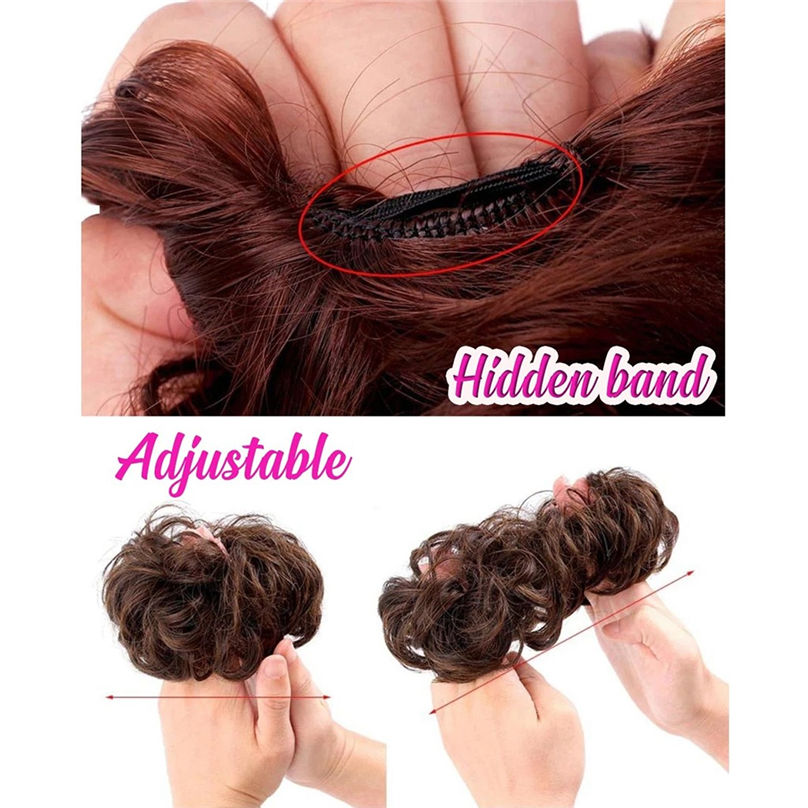New Fashion Easy-To-Wear Stylish Hair Circle Women Girls Hair Circle Elastics Scrunchie hair accessories 3S02 (13)