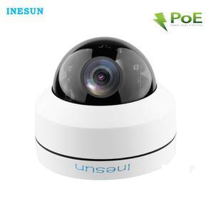 Image 1 - Inesun 2MP 1080P PoE IP كاميرا مراقبة للمنزل IK10 المخرب برهان IP66 مقاوم للماء 4X زووم بصري PTZ كاميرا بشكل قبة في الهواء الطلق وداخل قاعة